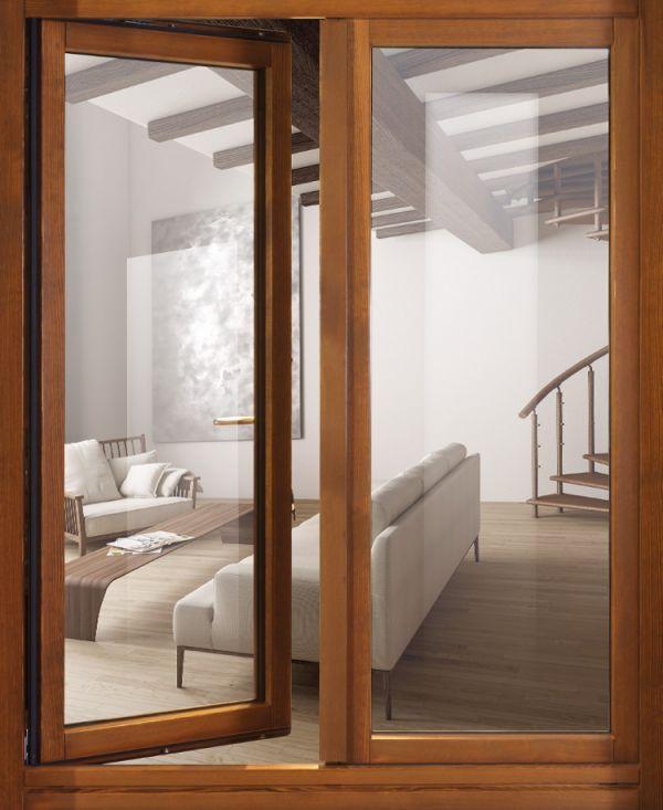 Finestre tutto legno pb finestre - Telaio finestra legno ...